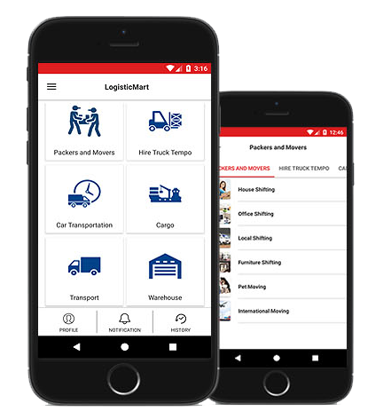 LogisticMart App for User