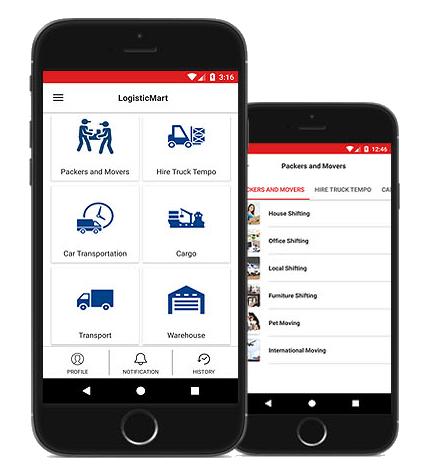LogisticMart App for User